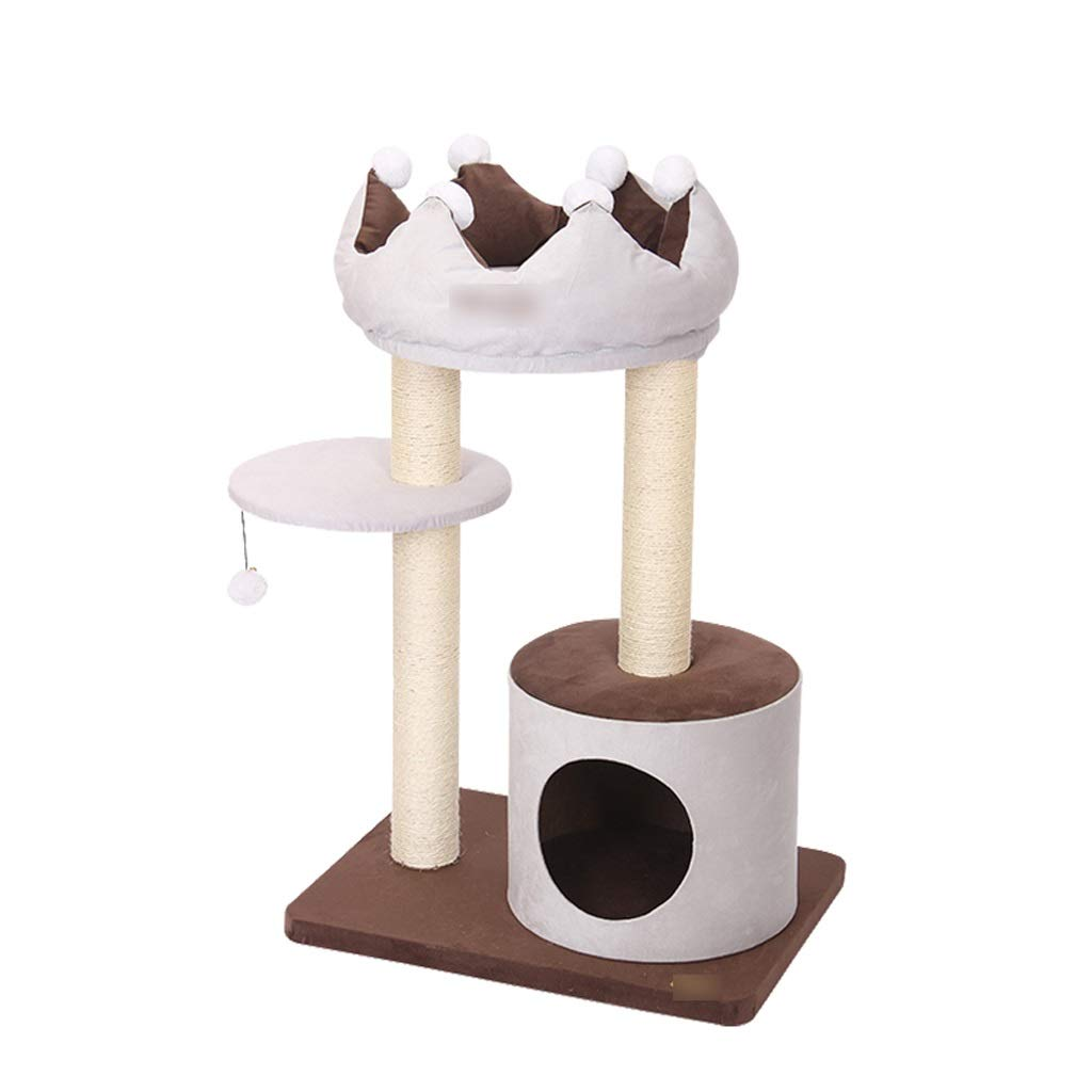 456090cm TT Small And Medium Cat Tree,Crown Type Cute Cat Nest,2 Sizes Of Cat Climbing Toys To Choose From,Cat Tower With Jump Platform (Size   45  60  90cm)