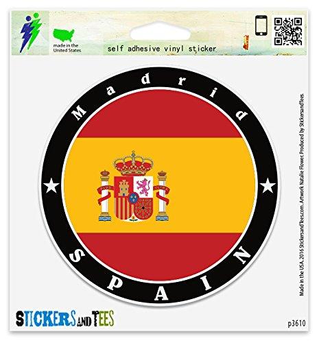 (Spain Madrid Vinyl Car Bumper Window Sticker 4