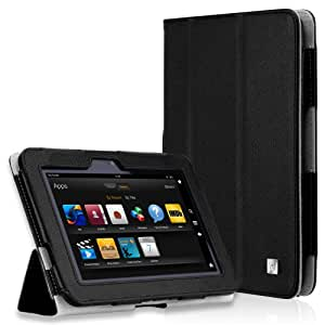 CaseCrown Bold Trifold Case (Black) for 2012 Amazon Kindle Fire HD 7 Inch (Built-in magnet for sleep / wake feature)