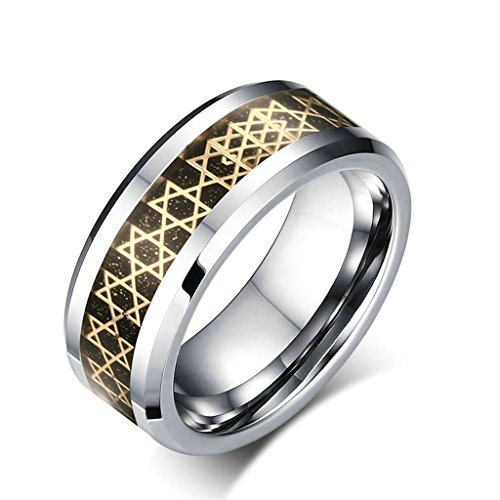 A Deer In The Headlights Costume (Epinki 8MM Gold Carbon Fiber Inlay Tungsten Carbide Mens Ladies Mens Womens Rings Wedding Band Size 12)