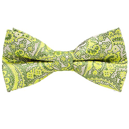 QYdress Men Bow Tie Adjustable Length Wedding Male Fashion Boys Satin Bowties one size QY-13