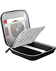 Lacdo Shockproof External CD DVD Hard Drive Sleeve Bag Case Storage Pouch for Burner Player Writer, Blu-Ray, Apple USB SuperDrive, Samsung/Asus/HP/Dell/LG Portable Protective Carrying Case Bag, Black