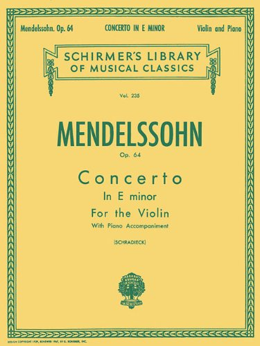 Series Score Parts (Concerto in E minor, Op. 64: Score and Parts (Schirmer's Library of Musical Classics))