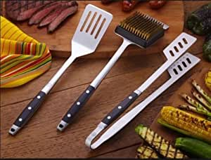 BBQ Tool Set Precision Series Set x 3 This set includes: BBQ Tongs, BBQ Grill Cleaning Brush and BBQ Spatula. Royal Prestige