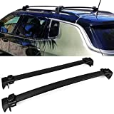 Roof Racks Fits 2017-2018 Jeep Compass | Factory Style Black Cross Bar Bars Luggage Carrier by IKON MOTORSPORTS