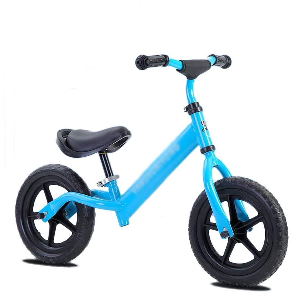 Balance Bike für Alter von 1,5 bis 6 Jahren   Carbon Steel Best Sport Push Fahrrad für Jungen und Mädchen (Farbe   Blau, größe   Style1) Blau Style2