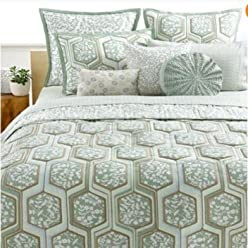 Style & Co. Home Pastiche Quilted Leaves Set of 2 Reversible EURO Pillow Shams