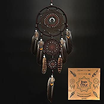 Littlear Dream Catcher Handmade Wall Hanging Decor Large Dream Catchers with Feathers Dia 7.9