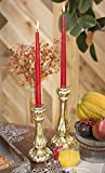 Mercury Glass Taper Candle Holder, 10.75 inches tall, Antique Gold