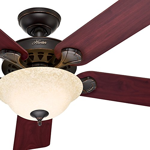 (Hunter Fan 52in Traditional Ceiling Fan, Onyx Bengal Bronze Finish - Remote Control Included (Renewed))
