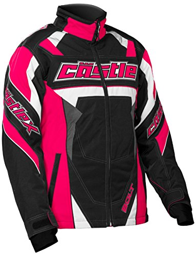 Castle X Bolt G4 Youth Girl's Snowmobile Jacket Hot Pink LRG