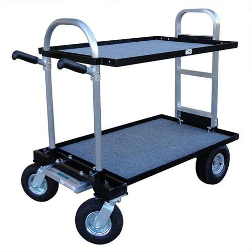 Backstage Magliner Junior (Modified) with 8'' Wheel Conversion Kit (Standard), 24'' Top Shelf, 24'' Bottom Shelf and 30'' HD Nose