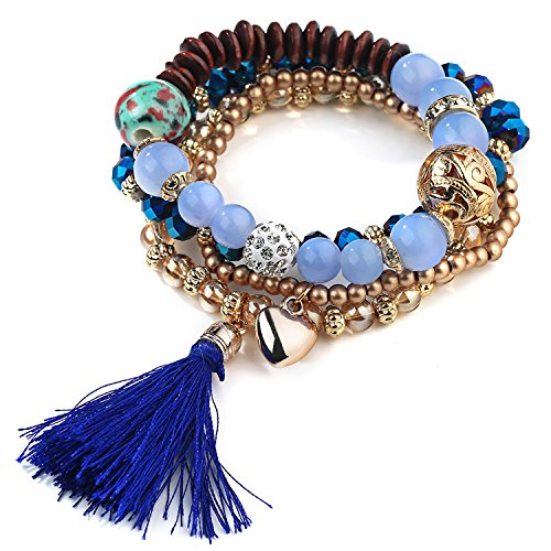 Young & Forever Girl's Valentine Paradiso Collection Diwali Midnight Blue Heart Bracelet by Young & Forever