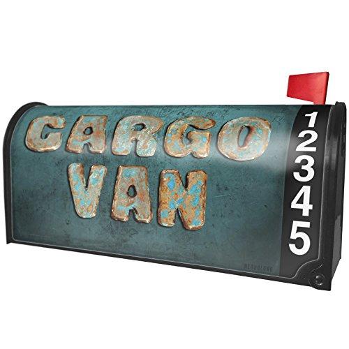 NEONBLOND Cargo Van Vintage Metal Copper Magnetic Mailbox Cover Custom ()