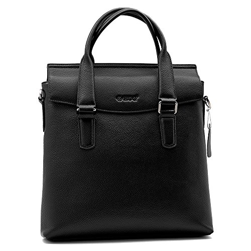 Men's Cow Leather Vertical Formal Briefcase Business Hand...