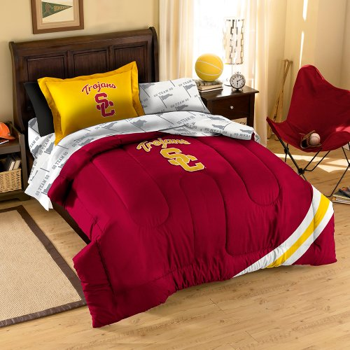 NCAA USC Trojans Twin/Full Size Comforter with Sham Set by Northwest