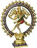 Aone India 11'' Large Nataraja Shiva Statue Lord Brass Sculpture Hindu God Figurine Dancing Shiva + Cash Envelope (Pack Of 10)