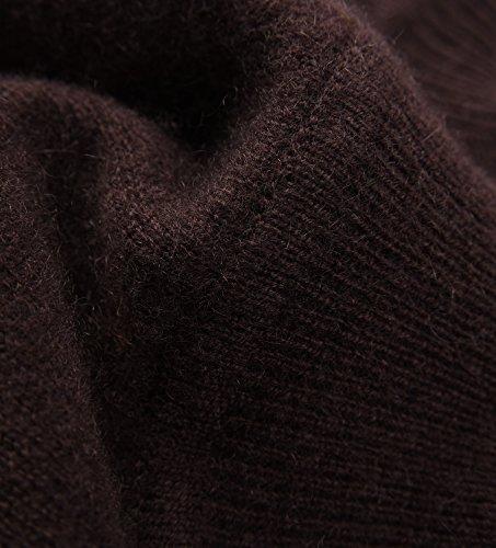 lunghe Maglione Maniche Brown Donna zhili OwERW1qO