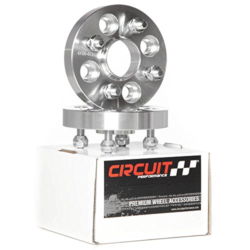 Wide Wheel Spacer (Pair of Circuit Performance 25mm Thick | 4x100 | 12x1.5 | 56.1mm Centerbore Hubcentric Wheel Spacers for Acura Integra Honda Civic Mini Cooper)