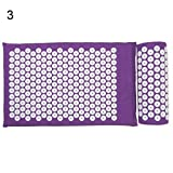 Shentesel Acupressure Massage Cushion Fatigue Pain Relief Mat Yoga Practice with Pillow - Lavender