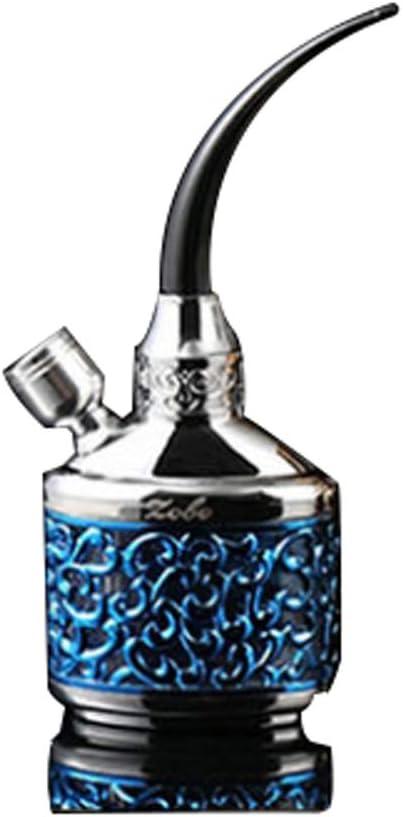 LHFJJ Mini Pipa de Agua para Cigarrillos Porta Pipa Hookah portátil Pipas de Fumar Filtro Conjunto Completo Día de Acción de Gracias Idea 4 Opción de Color (Color : Azul)