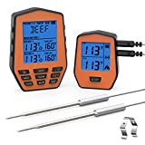 [2019 Latest]Wireless Remote Digital Cooking Food Meat Thermometer with Dual Probe for Smoker Grill BBQ Thermometer
