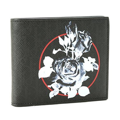 DIOR HOMME(ディオールオム) 財布 メンズ LEATHER 2つ折り財布 ブラック 2RDBC027-XXS-03E [並行輸入品] B07C6PYY3M