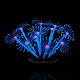 Product review for Hukai Silicone Luminous Artificial Coral Plants Ornament Decor For Fish Tank Aquarium (Blue)