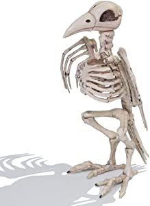 """Halloween Decoration 12.5"""" Pose-N-Stay Raven Skeleton Plastic Bones with Posable Joints for Pose Skeleton Prop Indoor/Outdoor, Spooky Scene Party Favors Décor."""
