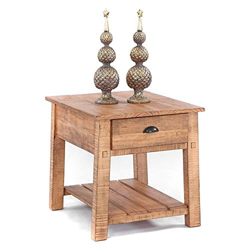 Progressive Furniture T408-04 Willow Rectangular End Table, Brown (Progressive Furniture Table End)