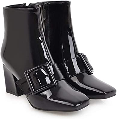 GIY Women Winter Patent Leather Ankle