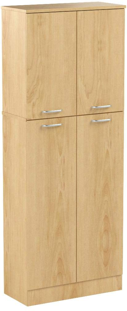 South Shore Smart Basics 4-Door Storage Pantry, Natural Maple by South Shore