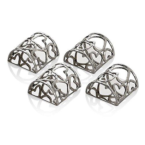 Michael Aram Heart Napkin Ring Set by Michael Aram