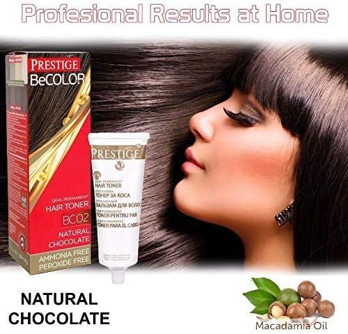 Vips Prestige - BeColor Tinte Semi Permanente Color Chocolate Natural BC02, Sin Amoniaco Sin Peroxide