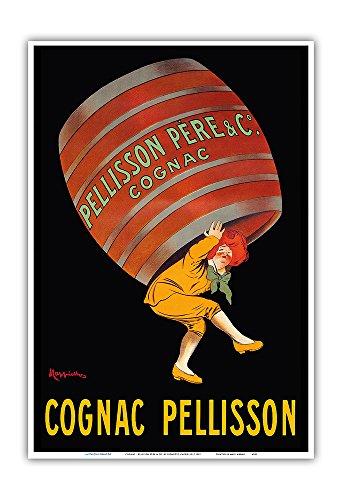 Cognac - Pellison Cognac Père et Fils Co. - Vintage French Advertising Poster by Leonetto Cappiello c.1907 - Master Art Print - 13in x 19in