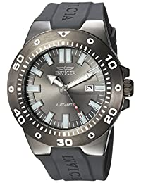 Invicta Men's 'Pro Diver' Automatic Stainless Steel and Polyurethane Casual Watch, Color Grey (Model: 23483)