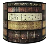 Royal Designs Modern Trendy Decorative Handmade Lamp Shade - Made in USA - Vintage Books Design - 10 x 10 x 8