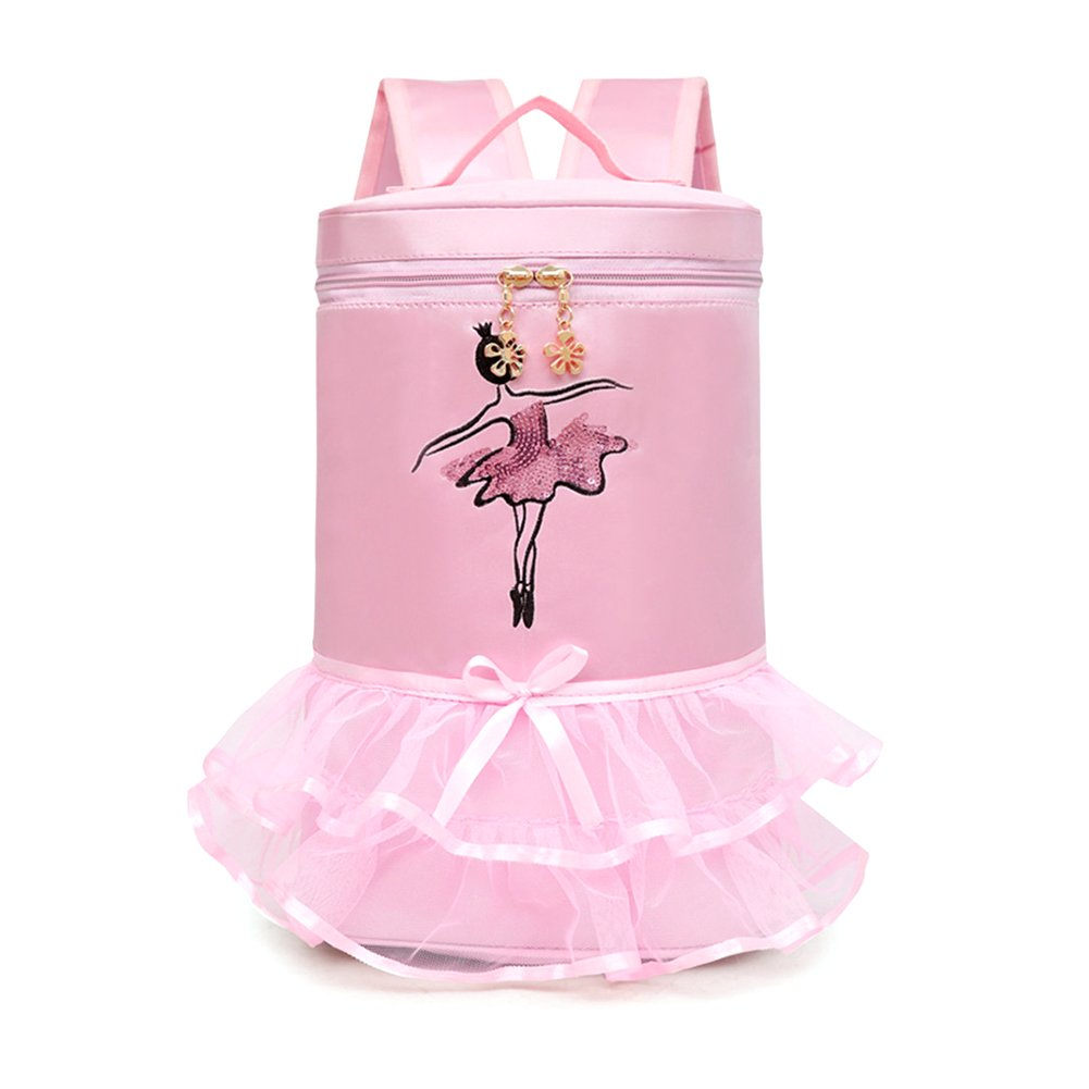 Rose Cheerfulus Sac de Danse Ballet Piscine Classique Dentelle Sac /à Dos de Danse Latine pour Enfants
