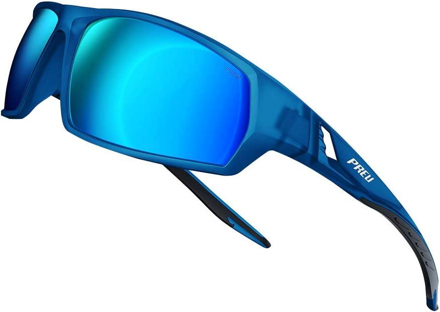 PREU Fashion Polarzied Sports Sunglasses for Women Men,Driving Running Cycling Golf Baseball Grasses S1034