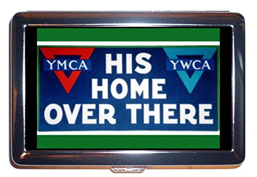 World War I YMCA YWCA Poster Stainless Steel ID or Cigarettes Case (King Size or 100mm)