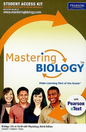 Download MasteringBiology with Pearson eText Student Access Code Card for Biology: Life of Earth with Physiology (9th Edition) by Gerald Audesirk (2010-01-14) pdf