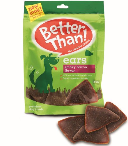 Better Than Ears Premium Dog Treats, Smoky Bacon Flavor, 36-Count Pouch, My Pet Supplies