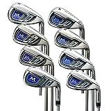 MAZEL Single Length Golf Irons Set,Right Handed (Steel, Stiff(S))