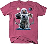 American Indian Animal Totem Pole Eagle, Polar, Grizzly, Cougar, Wolf & Antlers T Shirt - 2XL