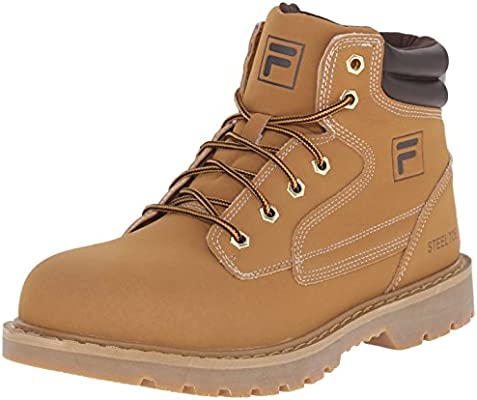 0b2346105d6 Fila Men's Landing Steel-m Walking Shoe, Wheat/Espresso/Gum, 11.5 M ...