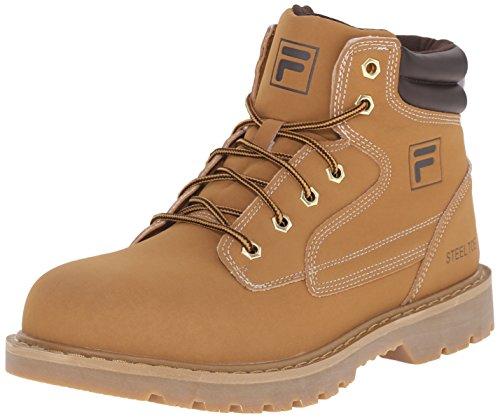 Fila Men's Landing Steel-m Walking Shoe, Wheat/Espresso/Gum, 9 M - Boots Fila Mens