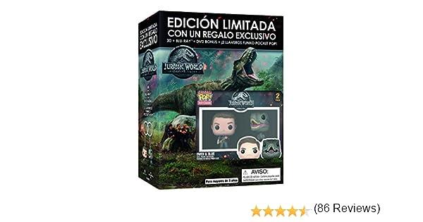 Jurassic World 2 El Reino Caido BD3D+BD+DVD Extras - Edición ...