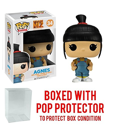 Funko Pop! Movies: Despicable Me - Agnes Vinyl Figure (Bundled with Pop BOX PROTECTOR CASE)
