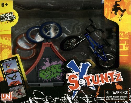 Uni-fortune X Stuntz - Die-Cast Finger Bike with Half Pike Ramp - No. 533932 by Uni-fortune (Image #1)