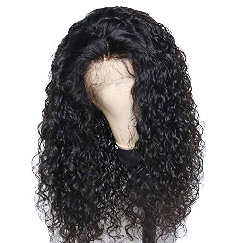 Lace Front Human Hair Wigs With Baby Hair Pre Plucked Full Curly Brazilian Remy Hair Lace Wigs For Black Women Bleached Knots,Natural Color,8inches for $<!--$84.89-->